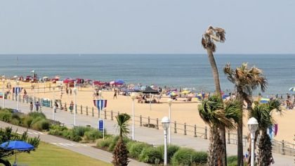 Tweet VIRGINIA BEACH, Va. — Neptune, the Roman god of water and the sea, is the majestic poster boy for an annual festival that draws 500,000 visitors to Virginia Beach...