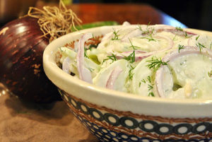 Mizeria (Polish Cucumber Salad). Gretchen McKay/Post-Gazette