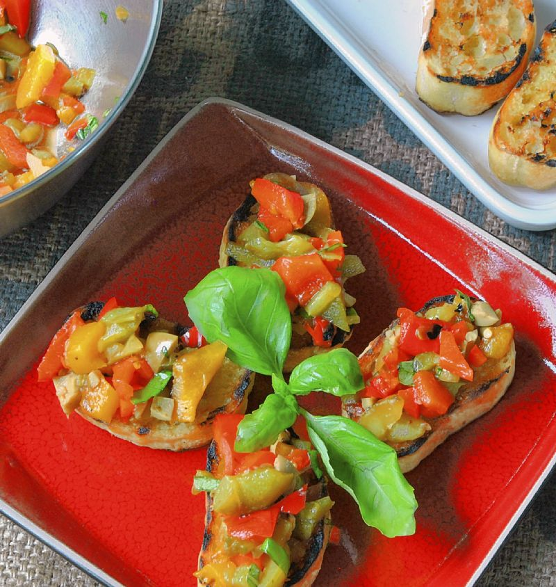 Bruschetta: Carbs on the grill