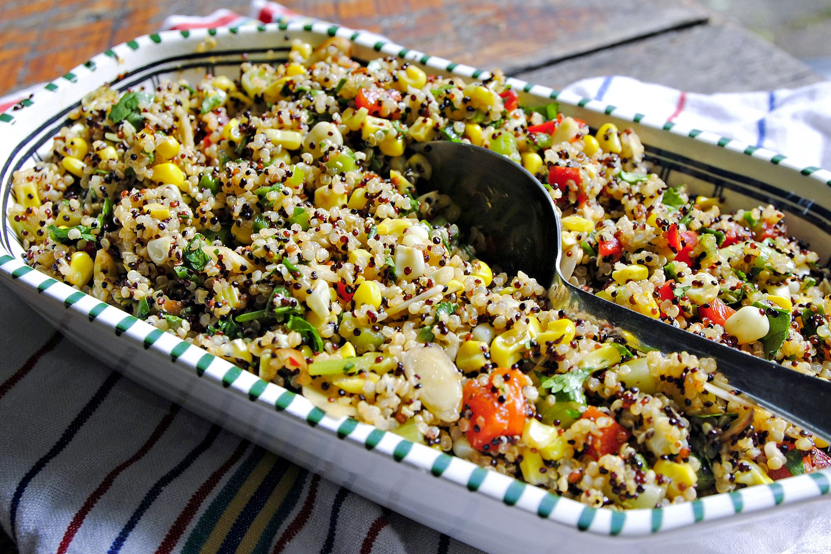 Let's eat: Pan-seared corn and quinoa salad
